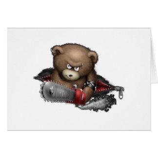 Cartão Serra de cadeia louca do urso