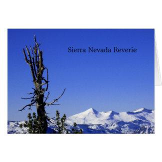 Cartão Serra fantasia de Nevada
