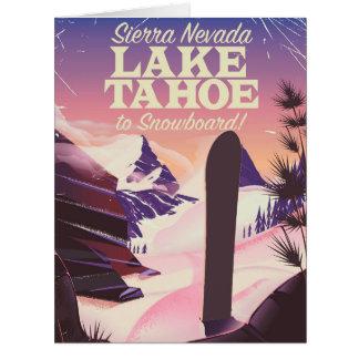 Cartão Serra poster de Lake Tahoe da snowboarding de