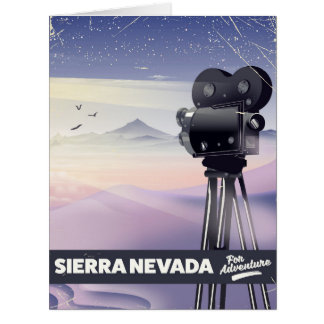 Cartão Serra poster de viagens de Nevada