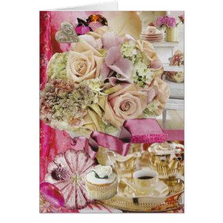 Cartão Serviço de chá de prata