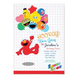 Cartão Sesame Street | Elmo e amigos - balões do