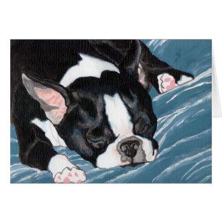 Cartão Sesta de Boston Terrier
