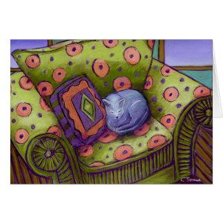 Cartão Sesta do gato