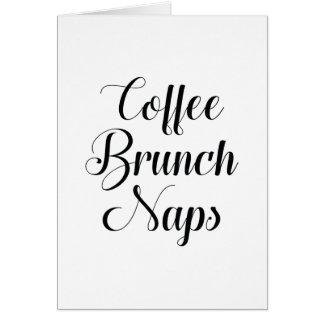 Cartão Sestas da refeição matinal do café