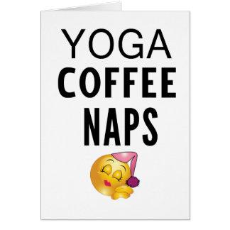 Cartão Sestas do café da ioga