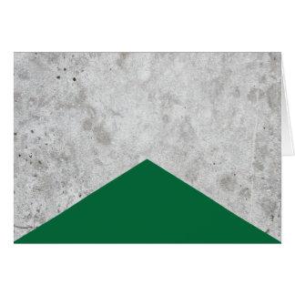 Cartão Seta concreta Forest Green #326