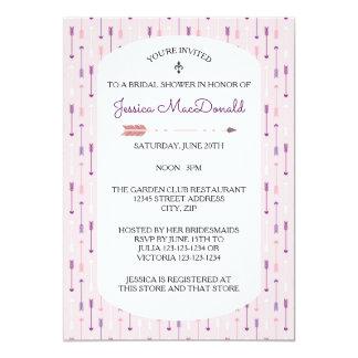 Cartão Setas cor-de-rosa - chá de panela