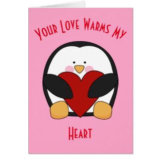 Cartão Seu amor aquece meu coração