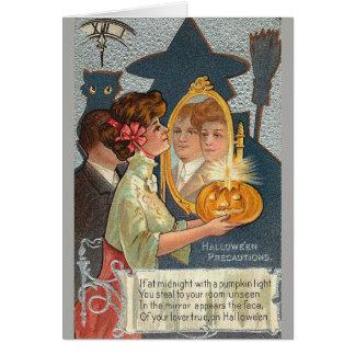 Cartão Seu amor verdadeiro no Dia das Bruxas,