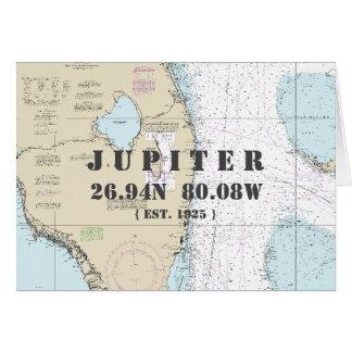 Cartão SEU barqueiro náutico da carta de Florida da