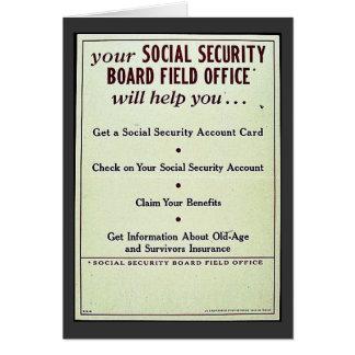 Cartão Seu gabinete no terreno do conselho da segurança