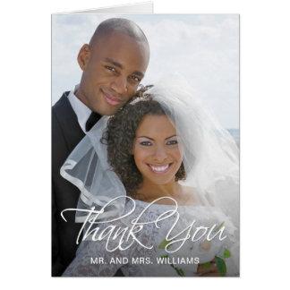 Cartão Seu obrigado especial da foto do casamento você