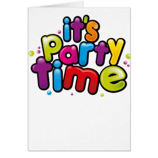 Cartão Seu partido do tempo do partido convida o cartão!