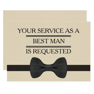 Cartão Seu serviço como pedido do homem do padrinho de