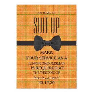 Cartão Seu serviço como um padrinho de casamento