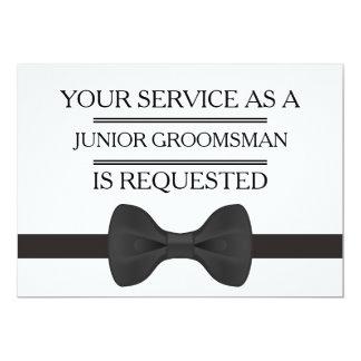 Cartão Seu serviço como um pedido do padrinho de