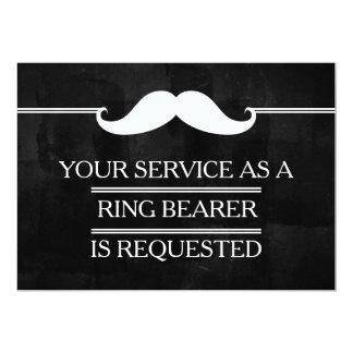 Cartão Seu serviço como um pedido do portador de anel do