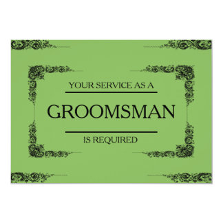 Cartão Seu serviço é pedido como o padrinho de casamento