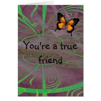 Cartão Seu um amigo verdadeiro