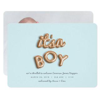 Cartão seu um menino! Aumentou gold/BLUE