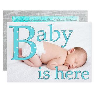 Cartão Seu um menino, bebê está aqui, anúncios do