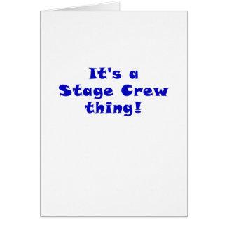 Cartão Seu uma coisa do grupo de palco