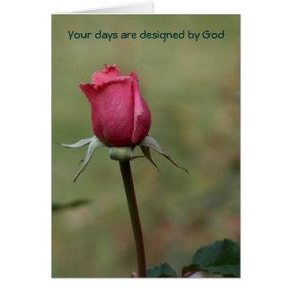 Cartão Seus dias são deus