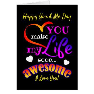 Cartão (Seus texto/editável) dia feliz