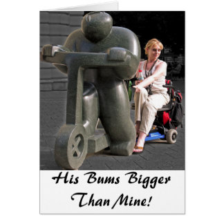 Cartão Seus vagabundos mais grandes do que meus!