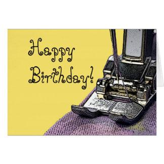 Cartão Sew o feliz aniversario