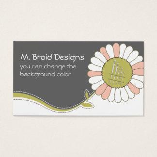 cartão sewing das agulhas da flor da costureira do