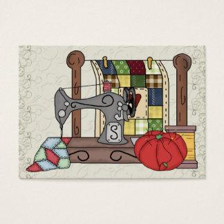Cartão Sewing do cerco/costureira do presente