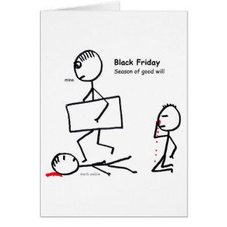 Cartão Sexta-feira preta