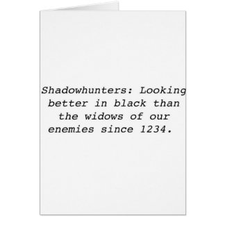 Cartão Shadowhunters