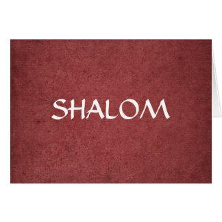 Cartão Shalom afligiu o vermelho