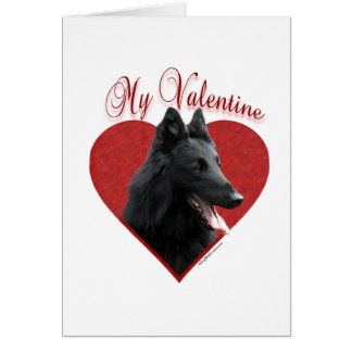 Cartão Sheepdog belga meus namorados