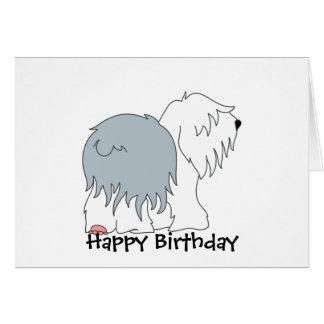 Cartão Sheepdog Bobtail