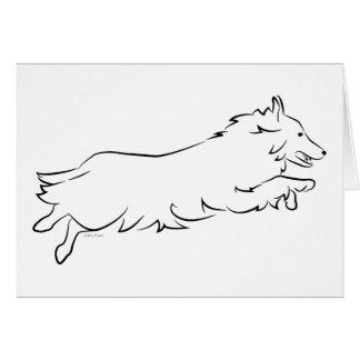 Cartão Sheepdog de Shetland