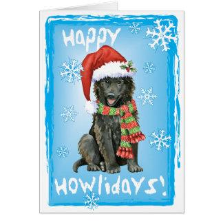 Cartão Sheepdog feliz do belga de Howlidays