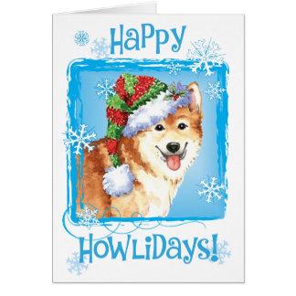 Cartão Sheepdog feliz do islandês de Howlidays