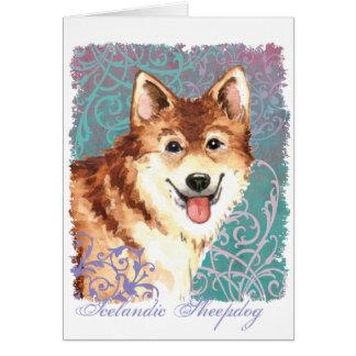 Cartão Sheepdog islandês elegante