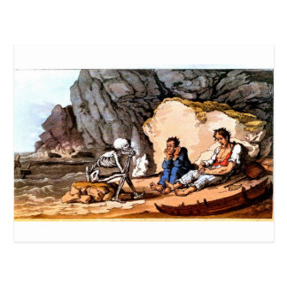 Cartão Shipwrecked dos marinheiros e da morte
