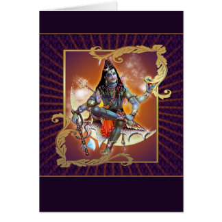 Cartão Shiva - fulgor do por do sol - cartão,