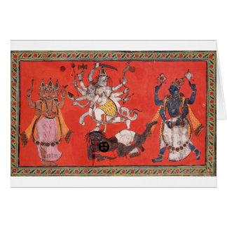 Cartão Shiva que executa a dança da felicidade