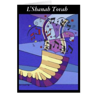 Cartão Shofar Rosh Hashana, L'Shanah Tovah