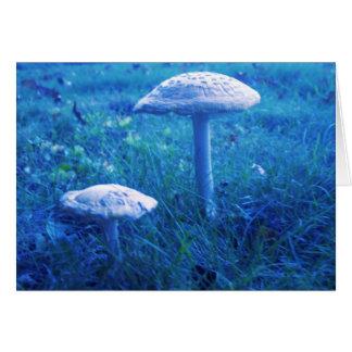 Cartão Shroom mágico no azul