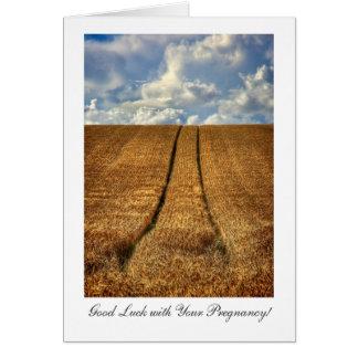 Cartão Sido e sorte ida de campo de trigo boa com