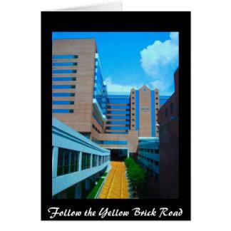 Cartão Siga a estrada amarela do tijolo