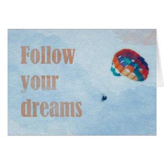 Cartão Siga seus sonhos